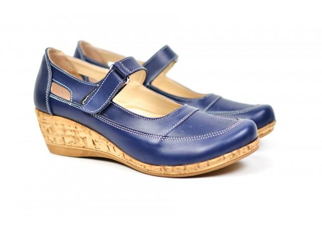 Pantofi dama cu platforma din piele naturala, foarte comozi - P9154913