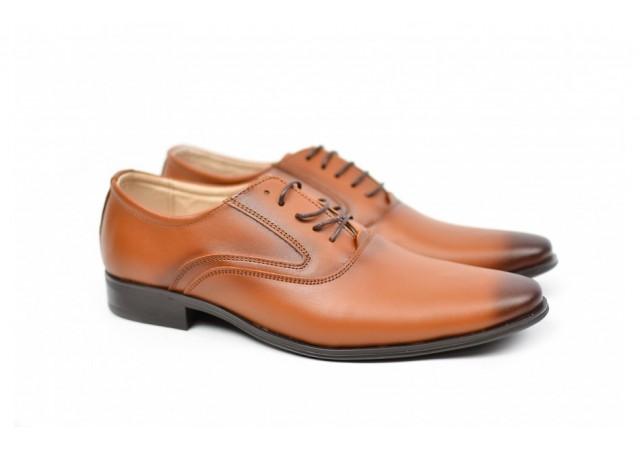Pantofi barbati eleganti casual din piele naturala, de culoare maro - CIOCSTEFM