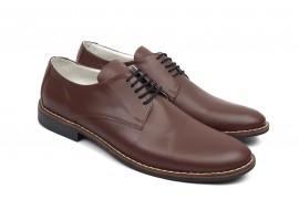Pantofi barbati eleganti din piele naturala maro NIC184MBOX
