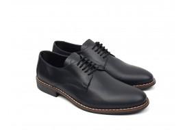 Pantofi barbati eleganti din piele naturala neagra NIC184NBOX