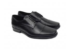 Pantofi barbati eleganti din piele naturala neagra NIC02NBOX