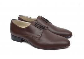 Pantofi barbati eleganti din piele naturala de culoare maro NIC211MS