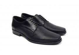 Pantofi barbati eleganti din piele naturala de culoare neagra NIC02NPR