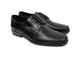 Pantofi barbati eleganti din piele naturala de culoare neagra NIC02NS