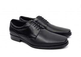 Pantofi barbati eleganti din piele naturala de culoare neagra NIC04NS