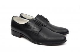 Pantofi barbati eleganti din piele naturala de culoare neagra NIC211SPM