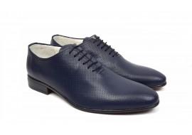 Pantofi barbati eleganti din piele naturala de culoare bleumarin inchis NIC5BLBOX