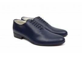 Pantofi barbati eleganti din piele naturala de culoare bleumarin inchis NIC5BLMBOX