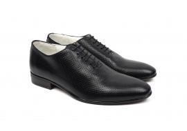 Pantofi barbati eleganti din piele naturala de culoare neagra NIC5NPR