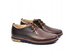 Pantofi barbati sport - casual din piele naturala maro TIMYANISMARO