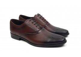 Pantofi barbati oxford, eleganti din piele naturala - Model 585MARO