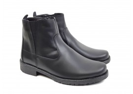 Ghete barbati casual - elegante, din piele naturala de culoare neagra - GFY44N