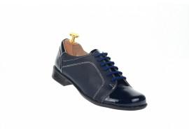 Pantofi dama piele naturala, casual bleumarin - Fabricati in Romania P53LACBOXBL
