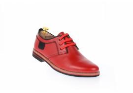 Pantofi barbati rosii, casual, din piele naturala 501R