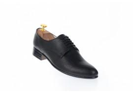 Pantofi barbati office, eleganti din piele naturala de culoare neagra NIC211SIRNP