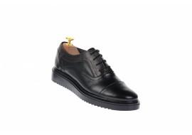 Oferta marimea 37, pantofi dama casual din piele naturala, platforme ortopedice, LP29N2ORTO