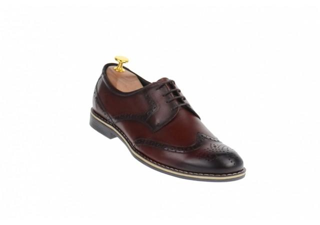 Pantofi barbati casual, visinii din piele naturala 500VIS