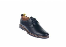 Pantofi barbati sport din piele naturala bleumarin 330BLM