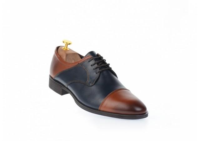 Pantofi barbati casual - eleganti din piele naturala - SIR104MBLU