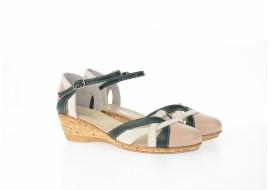 Oferta marimea 37, 38 - sandale dama din piele naturala cu barete - LS3BAV