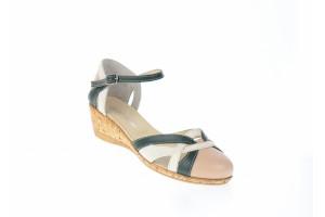 Sandale dama din piele naturala cu barete, S3BAV
