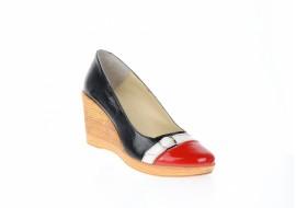 Oferta marimea 38, Pantofi dama piele naturala cu platforme de 7 cm LPTEA2RAN