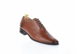 Pantofi barbati office, eleganti din piele naturala, maro SIR165M
