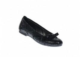 Balerini dama casual din piele naturala de cluoare neagra - ZENA2NCOL