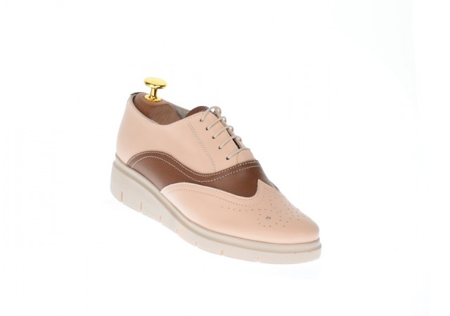 Lichidare marimea 37 Pantofi dama casual din piele naturala Bej - LP40BB