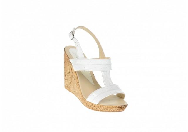 Sandale dama din piele naturala lac, platforme de 10 cm S46LACALB