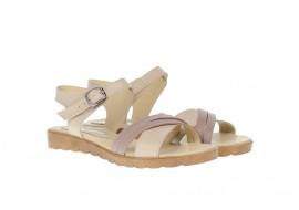 Sandale dama bej din piele naturala - ELY251BEJ