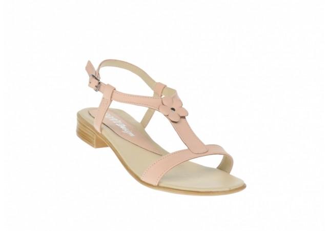 Sandale dama din piele naturala lacuita, CORA - SCORABEJ