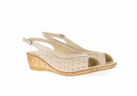 Sandale dama din piele naturala, cu platforma - SMALTABEJ