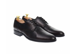 Pantofi barbati eleganti, cu siret, din piele naturala maro - 703MARO
