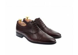Pantofi barbati eleganti, cu siret, din piele naturala visinie - 347VIS