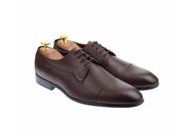 Pantofi barbati eleganti, cu siret, din piele naturala visinie - 709VISINIU