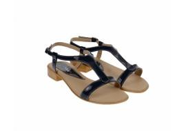 Oferta marimea 39 - Sandale dama din piele naturala lacuita, foarte comode - LSCORALACBL