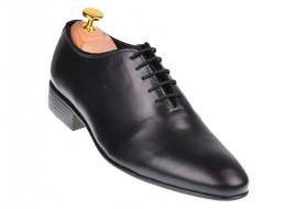 Pantofi barbati office, eleganti din piele naturala, negri, ELYON MATEO, 024NBOX