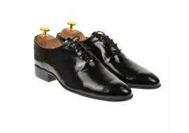 Pantofi  barbati eleganti negri din piele naturala lacuita - MOD1NLAC