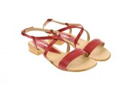 Sandale dama, din piele naturala, rosu - S8R