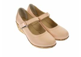 Pantofi dama casual din piele naturala bej - P38BEJBOX