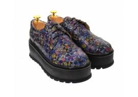 Pantofi dama cu  talpa groasa casual, 4 cm, mozaic - TCC4MO