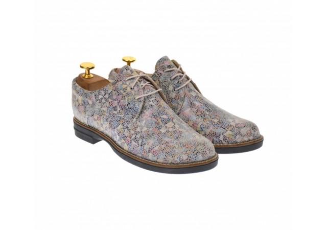 Oferta marimea 38, 40 - Pantofi dama casual , din piele naturala multicolor - LP102BEJ2
