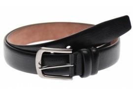 Curea neagra barbati casual, eleganta din piele naturala 3.5 cm - DR1320N