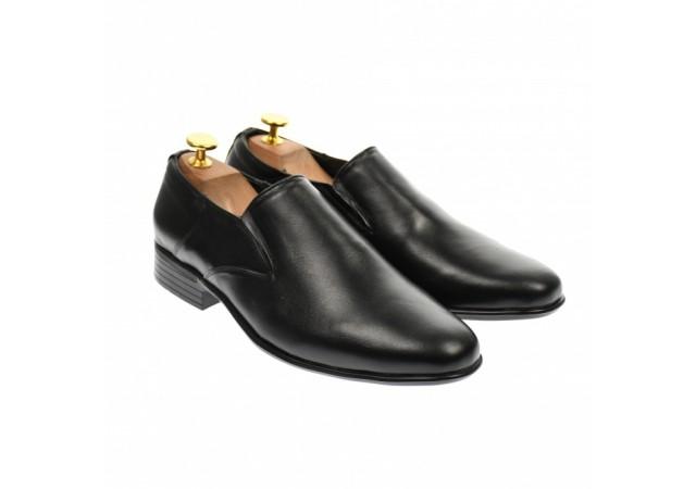 Pantofi barbati eleganti,casual din piele naturala neagra - P2EN