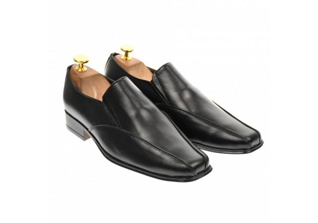 Pantofi barbati eleganti,casual din piele naturala neagra - 1EN