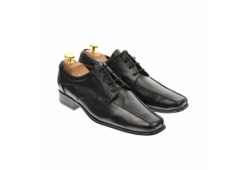 Pantofi barbati eleganti,casual din piele naturala neagra - 1SN
