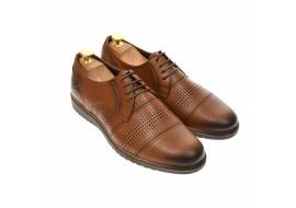 Pantofi barbati, casual, din piele naturala maro - 267M