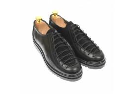 Pantofi dama casual din piele naturala, negru - P501NN