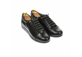 Pantofi dama casual din piele naturala, negru - P5032N